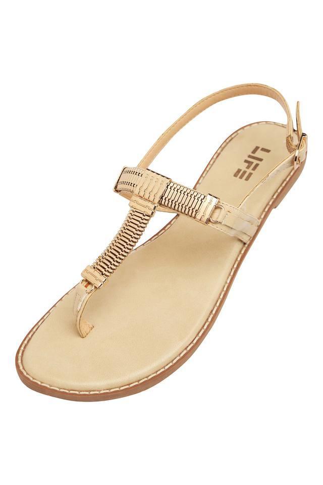 Womens Casual Wear Buckle Closure Flat Sandals