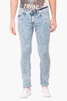 FLYING MACHINEMens Skinny Fit Acid Wash Jeans (Jackson Fit)