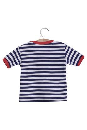 Kids Round Neck Striped Tee