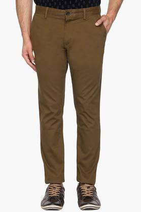 INDIAN TERRAIN Mens Urban Fit 4 Pocket Solid Chinos