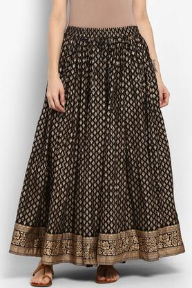 VARANGA Womens Printed Long Skirt
