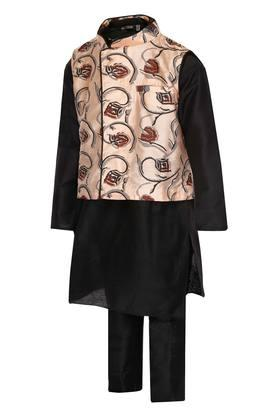 Boys Mandarin Neck Assorted Kurta Pyjama and Jacket Set