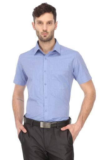STOP -  Blue Formal Shirts - Main