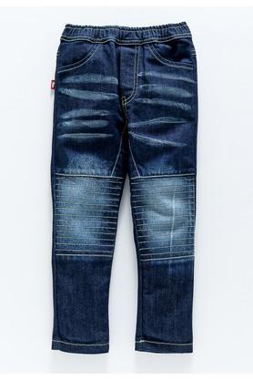 Boys Regular Fit 4 Pocket Heavy Wash Jeans