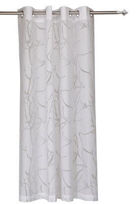 Wallace Self Pattern Sheer Door Curtain