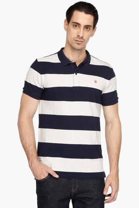 Polo in White With 3 Colours Stripe - 905 Benetton Visit Online Clearance Footlocker Finishline Big Discount Enjoy Cheap Price KAjBQP