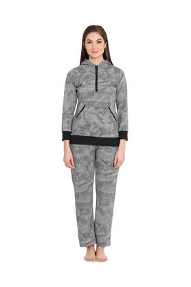 Womens Printed Top and Pyjamas Set
