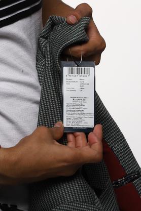 Mens Notched Lapel Printed Blazer