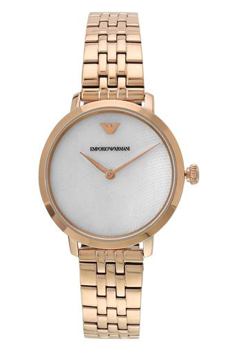 Womens Modern Mother of Pearl Dial Stainless Steel Analogue Watch - AR11158I