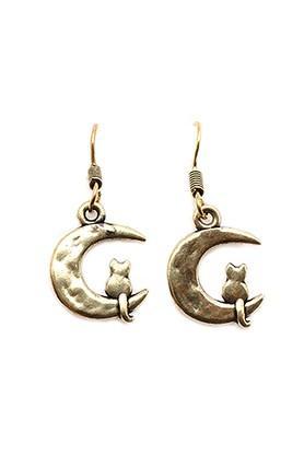 Womens Gold Plated Metal Earrings