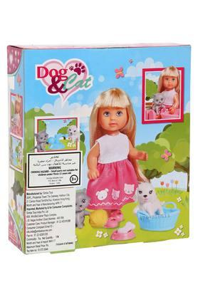 Girls Evi Doll with Dog And Cat