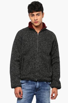 STOP Mens Zip Through Neck Printed Casual Jacket