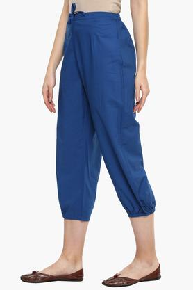 Womens Solid Casual Culottes