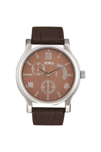 Mens Eco Series Brown Dial Analog Watch - HR717MLBR69