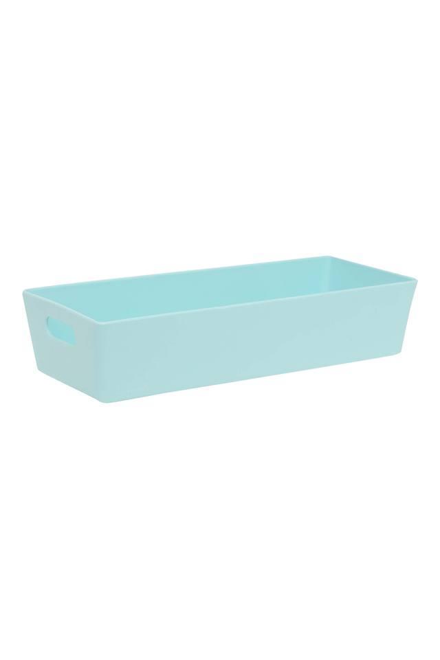Rectangular Solid Egg Blue Basket