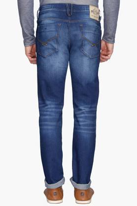 Mens 5 Pocket Skinny Fit Heavy Wash Jeans (Regallo Fit)