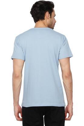 Mens Round Neck Self Pattern T-Shirt