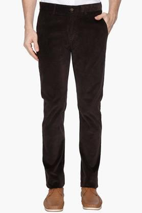 BLACKBERRYS Mens Slim Fit 4 Pocket Solid Trousers - 202744816