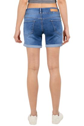 Womens Whiskered Effect Shorts