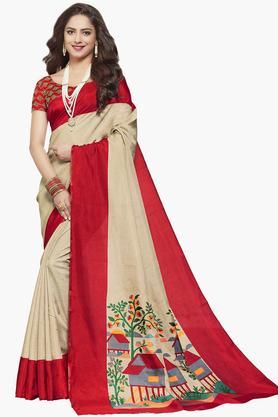 ISHINWomens Bangalori Mysore Art Silk Printed Saree - 203495509_9111