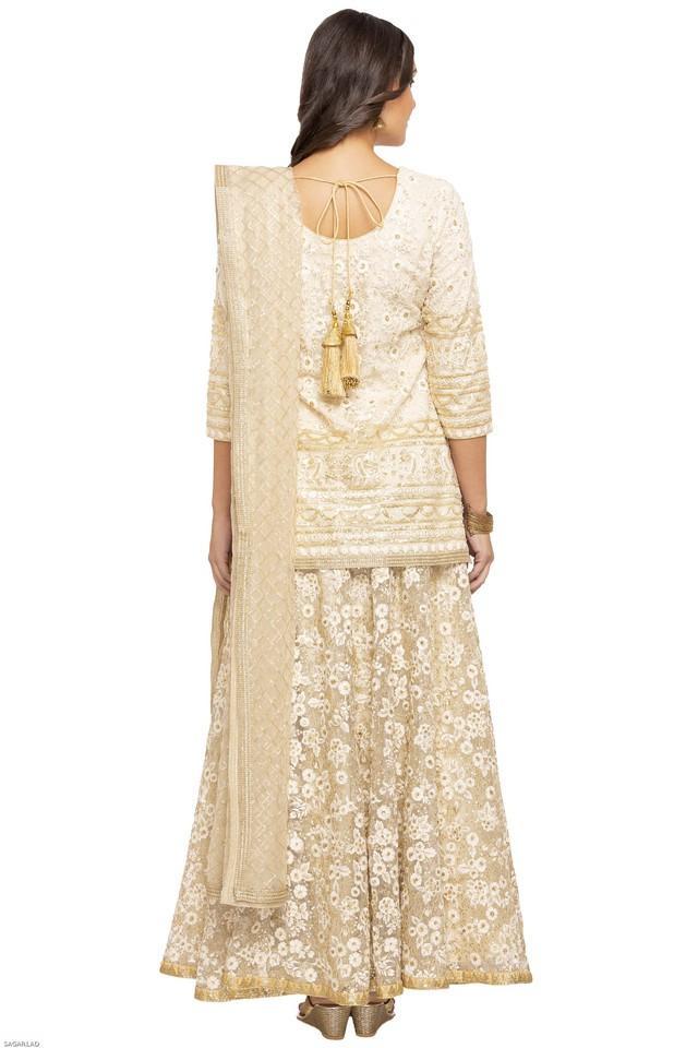 Womens Round Neck Embroidered Ghagara Choli Set