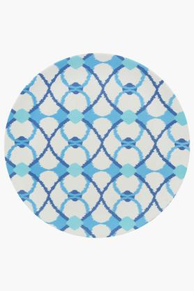 BACK TO EARTHRound Printed Dinner Plate