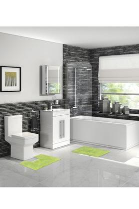Solid Textured Rectangular Bath Mat Set of 2