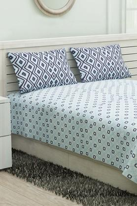 Double Bed Geometric Reversible Quilt