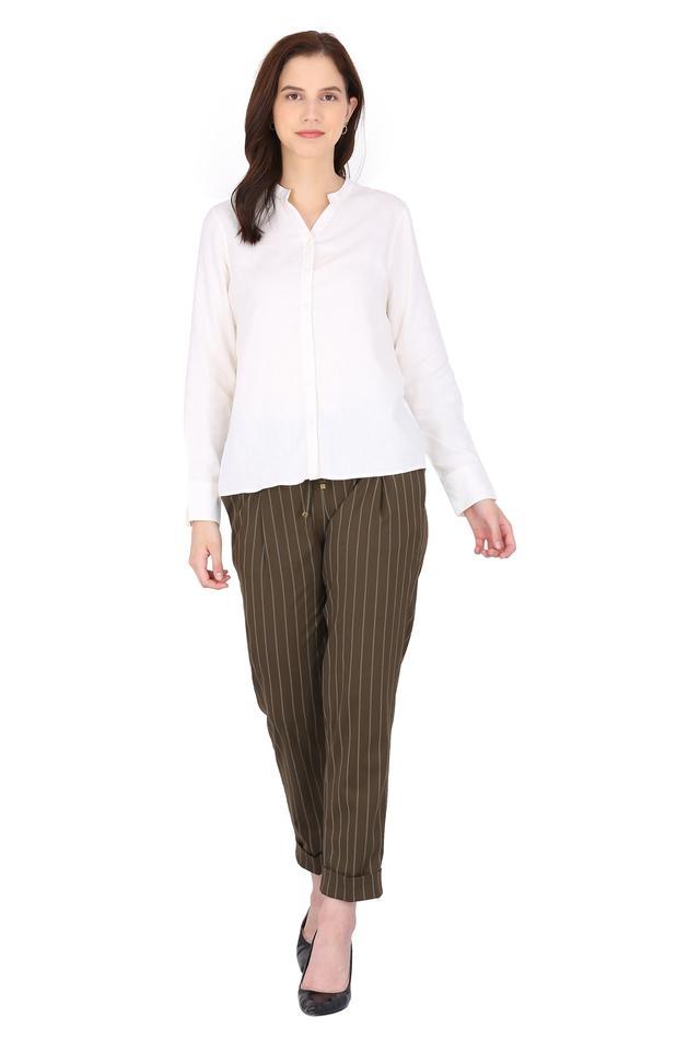 Womens 4 Pocket Stripe Pants