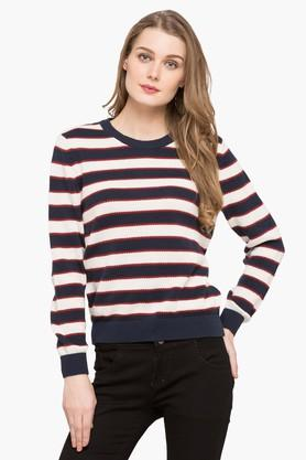 LEVIS Womens Round Neck Stripe Sweater