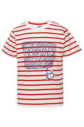 Boys Round Neck Stripe Tee