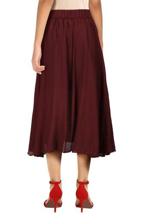 Womens Solid Flared Skirt