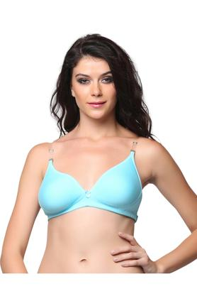 Womens Padded Non Wired T-Shirt Bra with Detachable Straps