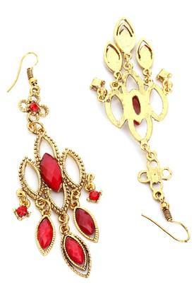 Womens Red Metal Earrings