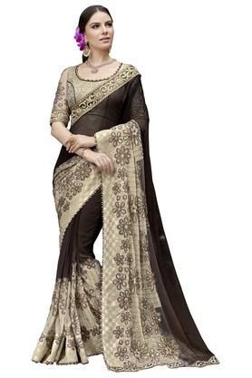 Womens Chiffon Designer Saree