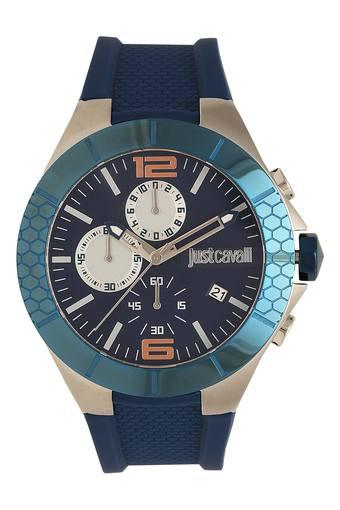 Mens Blue Dial Chronograph Watch - 1G081P0035