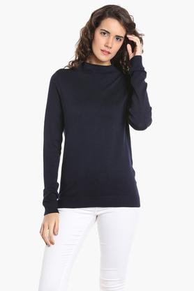 VERO MODA Womens High Neck Solid Sweater