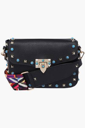 WILDCHILD Womens Metallic Lock Closure Slingbag - 201923497