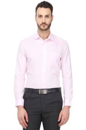 Mens Classic Fit Collar Slub Shirt