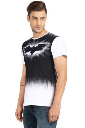 Mens Regular Fit Round Neck Printed T-Shirt