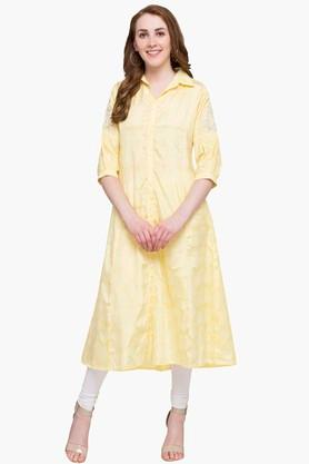 KASHISH Womens Collared Printed Kurta