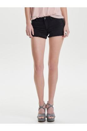 Womens 4 Pocket Mild Wash Shorts