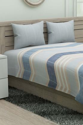 SPACES Stripe Single Bed Sheet With Pillow Cover