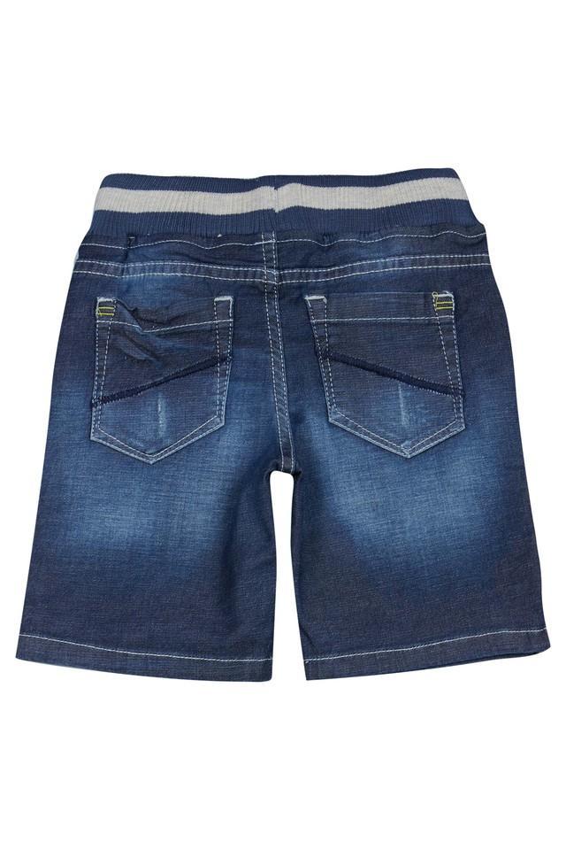 Boys 4 Pocket Distressed Shorts
