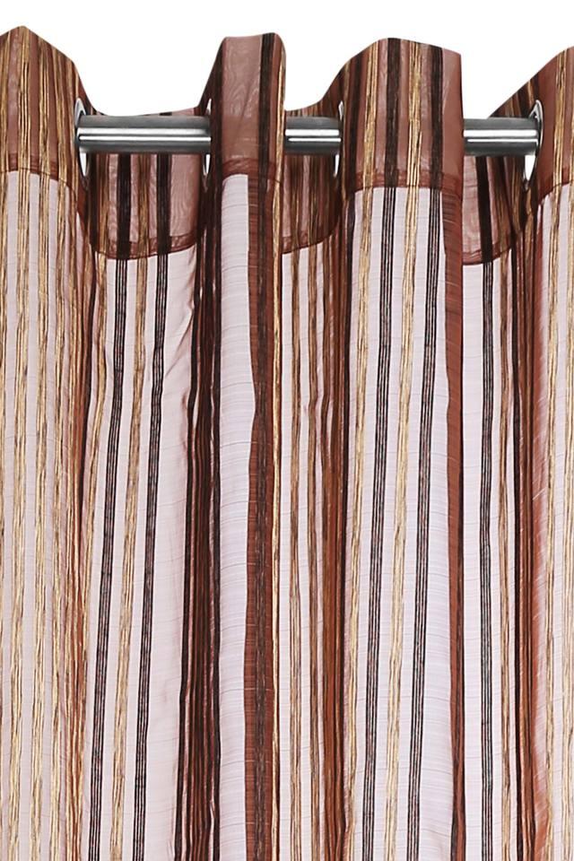 Striped Window Curtain