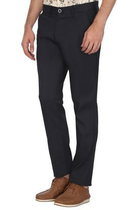 Mens 5 Pocket Slub Trousers