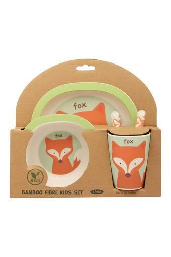 Kids Fox Printed Dinner Set of 5