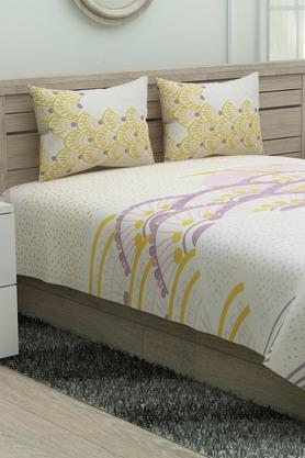 SPACES Printed Double Bed Sheet With Pillow Cover - 204023155_9900