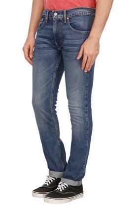 Mens 5 Pocket Heavy Wash Jeans (65504)