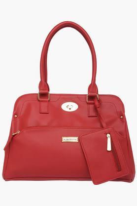 ELLIZA DONATEINWomens Metallic Lock Closure Tote Handbag